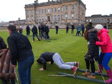 Team building at Heythrop Park in Oxfordshire