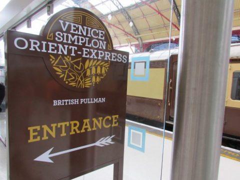 Sign for Venice Simplon Orient Express