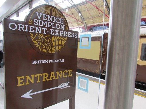 Sign for Venice Simplon Orient Express